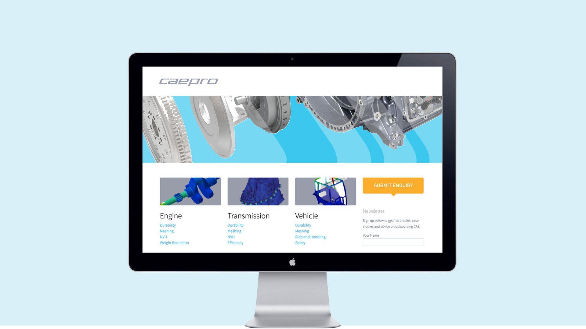 Caepro website design