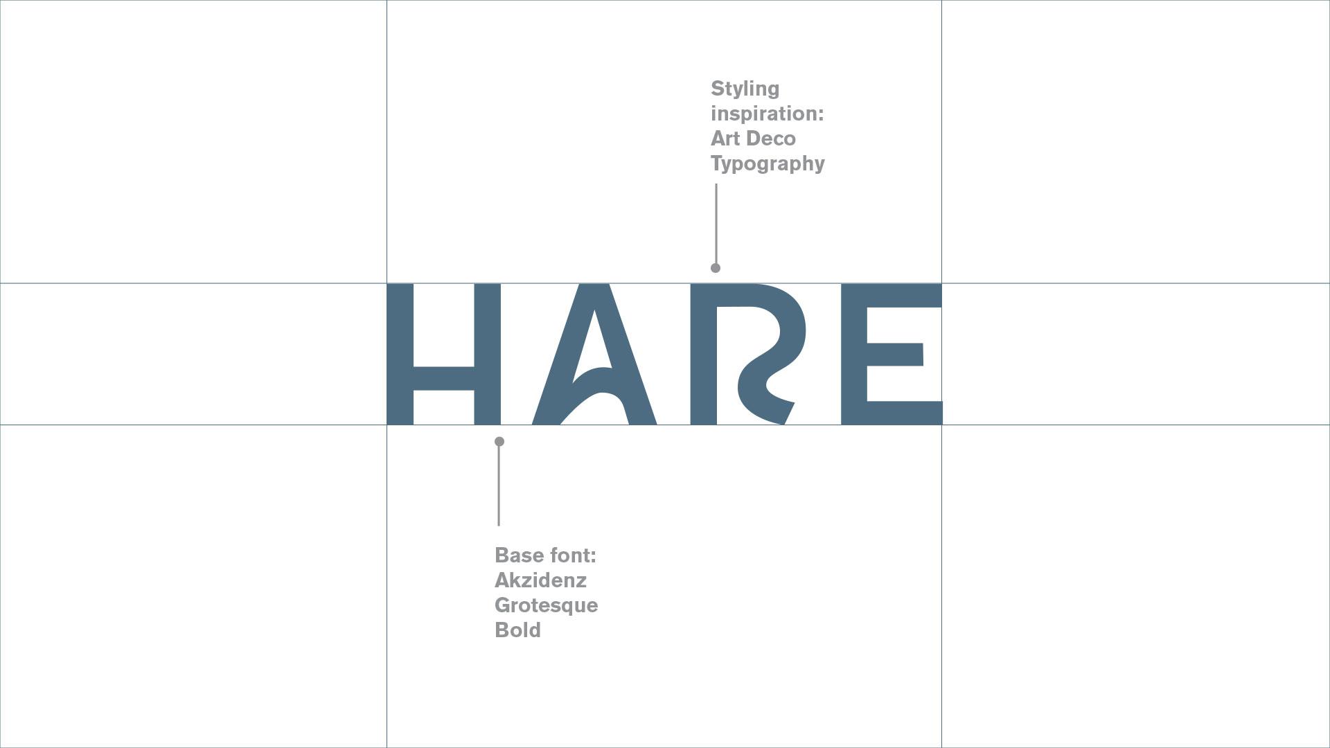 Hare studio typography