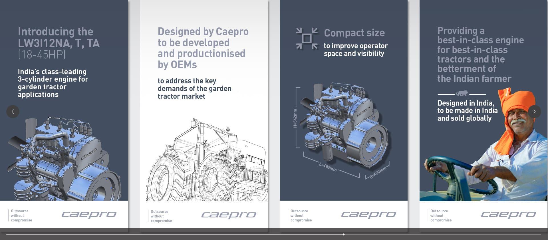 Caepro engine external