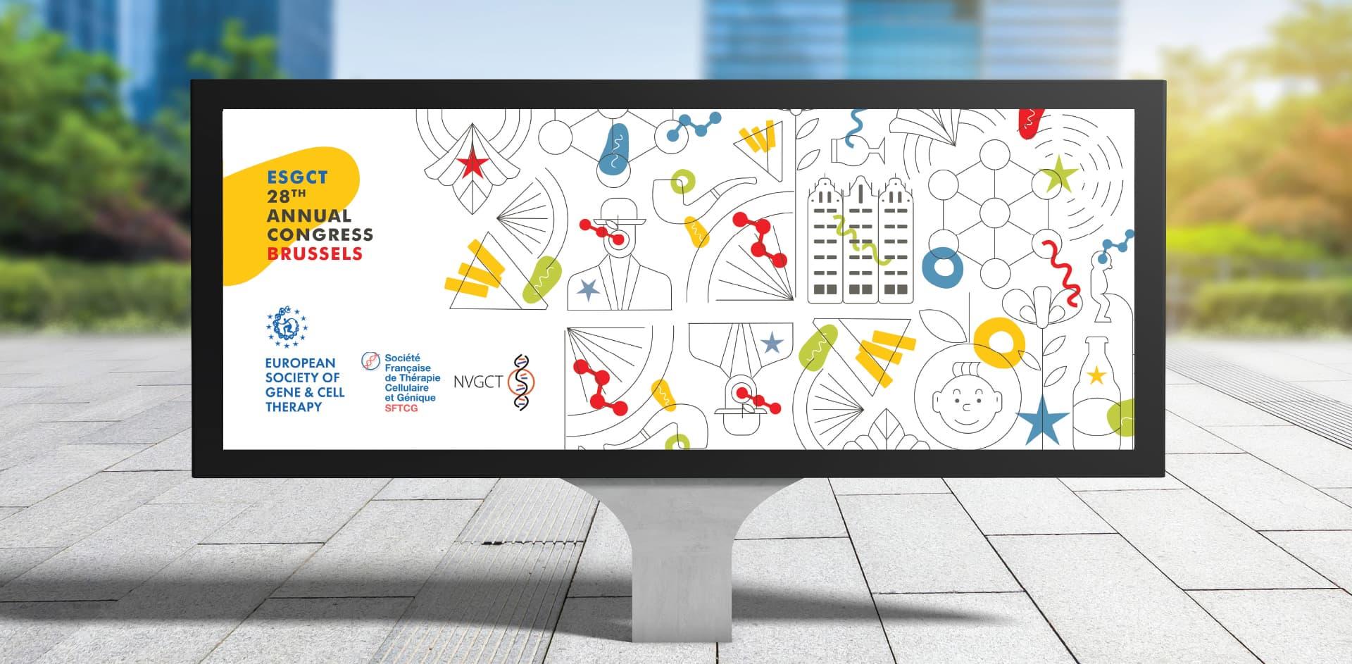 ESGCT Congress Brussels 2021 wide screen display
